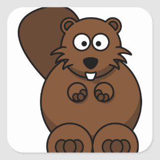 Classic Round Sticker, Matte  teddy bear Square Sticker