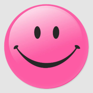 Classic Round Sticker/Smiley Face Round Sticker
