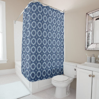 Classic Rounded Diamonds Shower Curtain ©AH2014