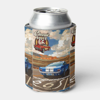 """Classic Route 66"" Can Cooler"