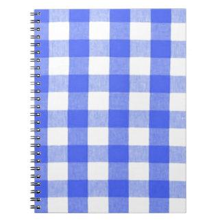 Classic Royal Blue Gingham Art Design Pattern Notebook
