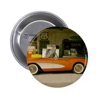 Classic RT 66 Gas Station Pinback Buttons