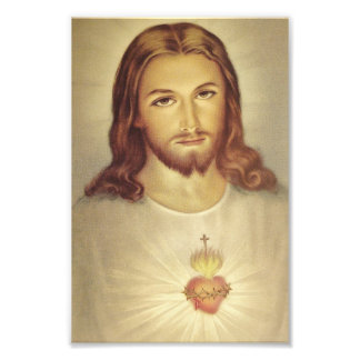Classic Sacred Heart of Jesus Photo Print