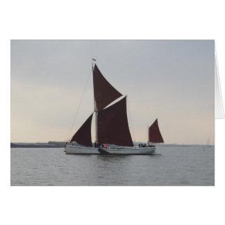 Classic Sailing Barge Card
