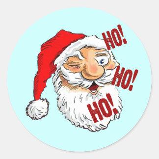 Classic Santa Claus Christmas Classic Round Sticker