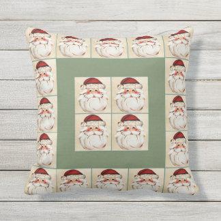Classic Santa Claus Face Outdoor Pillow