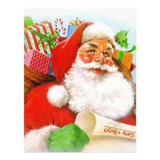 Classic Santa Picture Customized Letterhead