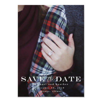 Classic Save The Date Card