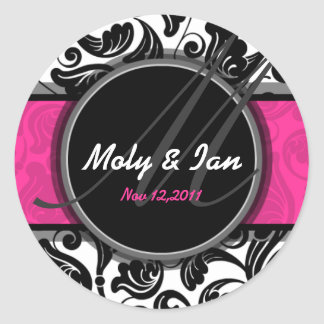 Classic Save the date wedding sticker A005