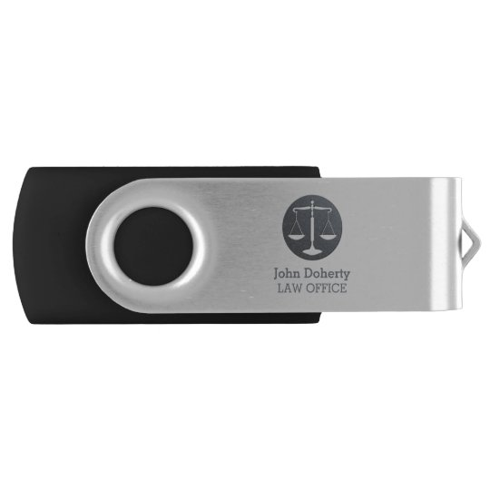 Classic Scales of Justice | Personalizable Lawyer Swivel USB 2.0 Flash Drive