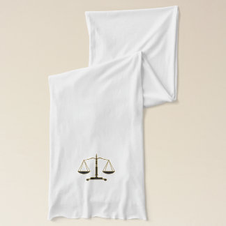 Classic Scales of Justice Symbol Scarf