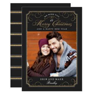 Classic Scroll Christmas Card / Holiday Photo Card