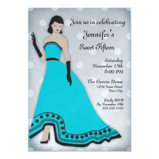 Classic Senorita in Turquoise and Silver Card
