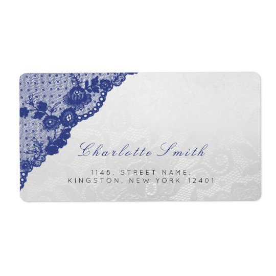 Classic Silver Blue Navy Return Address Labels