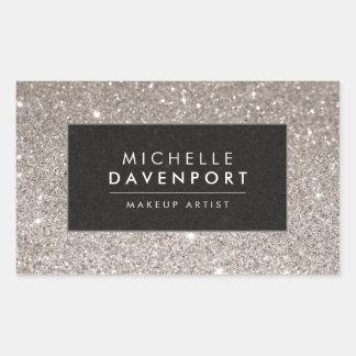 Classic Silver Glitter Makeup Artist Stickers