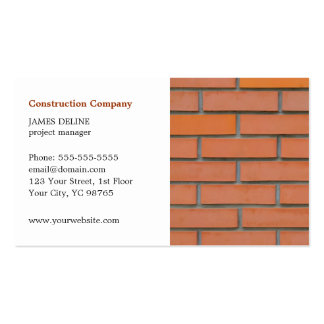 Classic Simple Building Industry Pack Of Standard Business Cards