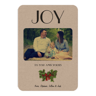 Classic & Simple JOY Holiday Card