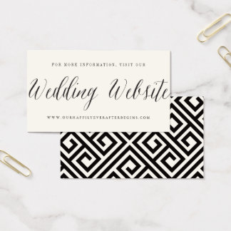 Classic Simple Script Modern Wedding Website Card