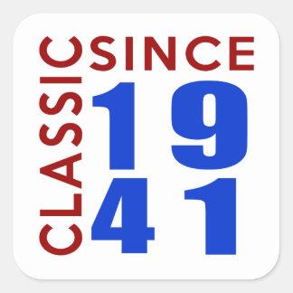 Classic Since 1941 Birthday Designs Square Sticker