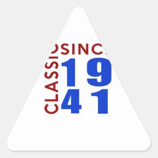Classic Since 1941 Birthday Designs Triangle Sticker