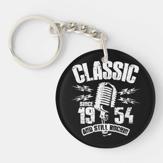 Classic Since 1954 And Still Rockin Keychain