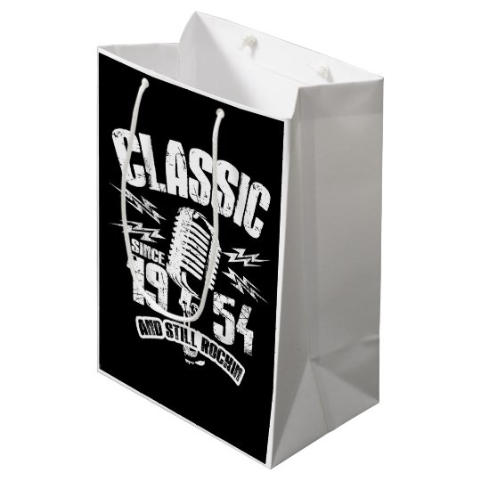 Classic Since 1954 And Still Rockin Medium Gift Bag