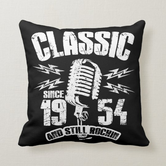 Classic Since 1954 And Still Rockin Throw Pillow