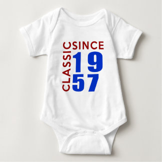 Classic Since 1957 Birthday Designs Baby Bodysuit