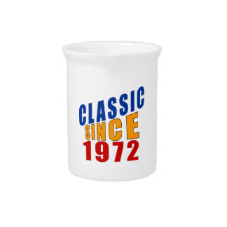 Classic Since 1972 Drink Pitcher