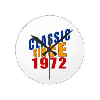 Classic Since 1972 Wallclock