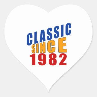 Classic Since 1982 Heart Sticker