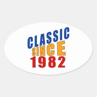 Classic Since 1982 Oval Sticker