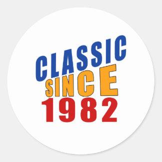 Classic Since 1982 Round Sticker