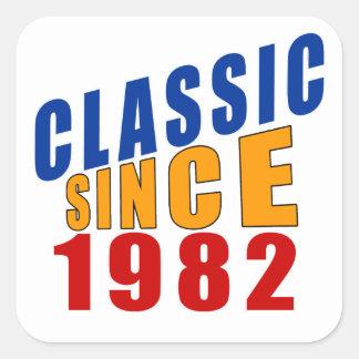 Classic Since 1982 Square Sticker