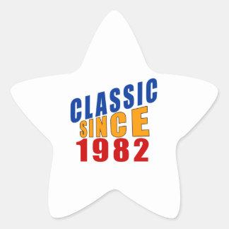 Classic Since 1982 Star Sticker