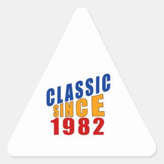 Classic Since 1982 Triangle Sticker