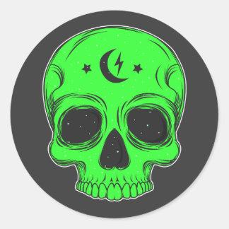 Classic Skull Illustration Classic Round Sticker
