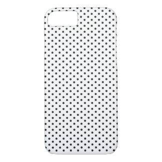 Classic Small Black White Polka Dots Custom Color iPhone 7 Case