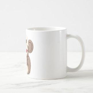 Classic Sock Monkey Basic White Mug
