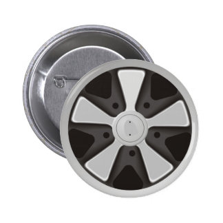 Classic sports car racing wheel used on 911 2 inch round button