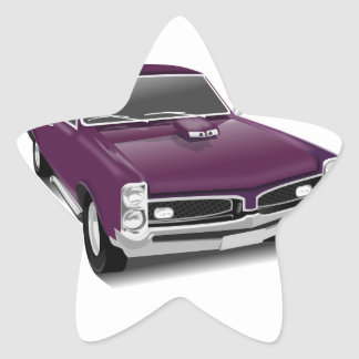 Classic Sports Car Star Sticker
