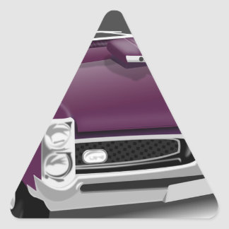 Classic Sports Car Triangle Sticker