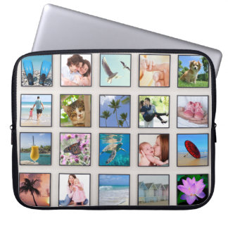 Classic Square Frame Photo Collage Laptop Sleeves