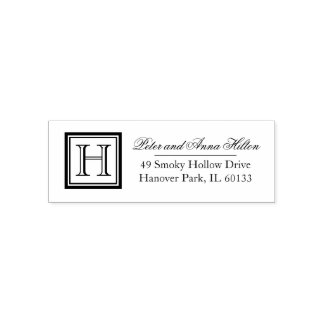 Classic Square Monogram Address Stamp