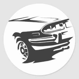 Classic Stag detail Classic Round Sticker