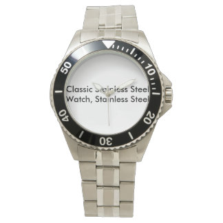 Classic Stainless Steel Watch, Stainless Steel Watch