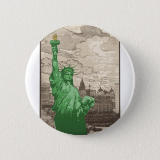 Classic Statue of Liberty 2 Inch Round Button