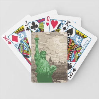 Classic Statue of Liberty Bicycle Playing Cards