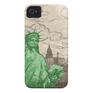 Classic Statue of Liberty iPhone 4 Case-Mate Cases
