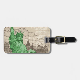 Classic Statue of Liberty Luggage Tag